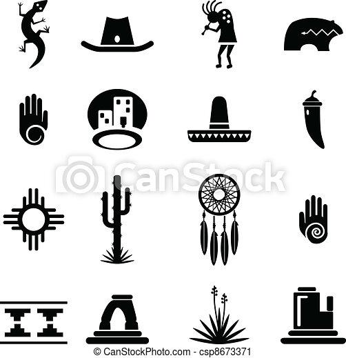 sud-ovest, set, icone - csp8673371