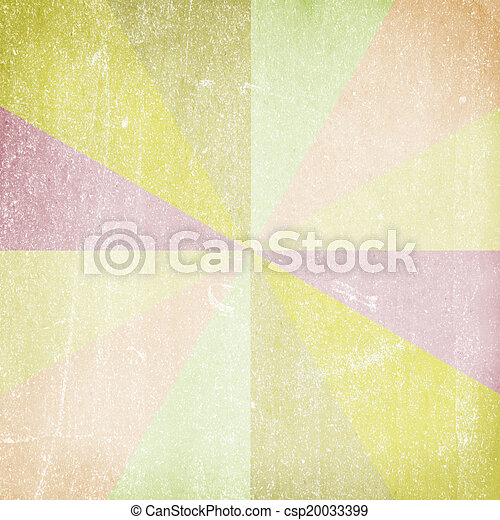 sunbeams., o, grunge, fondo, multicolor, vendemmia - csp20033399