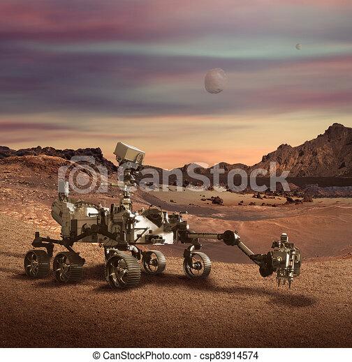 superficie, marte, perseveranza, pianeta, girovago, esplorare - csp83914574
