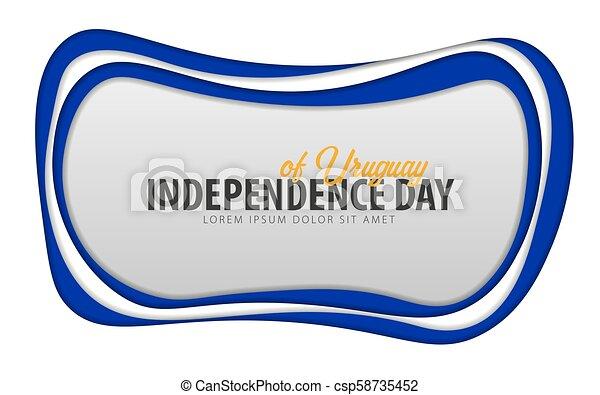 taglio, card., uruguay., augurio, giorno, carta, style., indipendenza - csp58735452