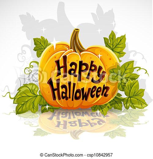 taglio, halloween zucca, felice, fuori - csp10842957