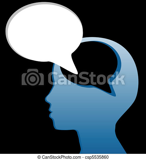 taglio, mente, discorso, sociale, parlare, bolla, pensare, fuori - csp5535860