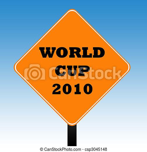 tazza mondo, segno strada - csp3045148