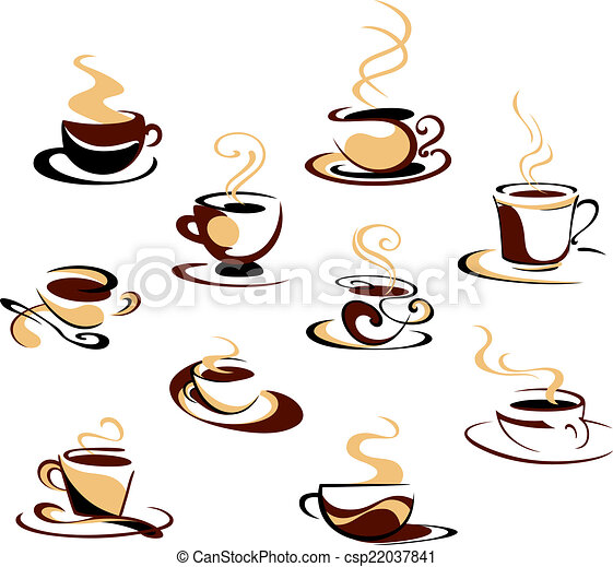 tazze caffè, set - csp22037841