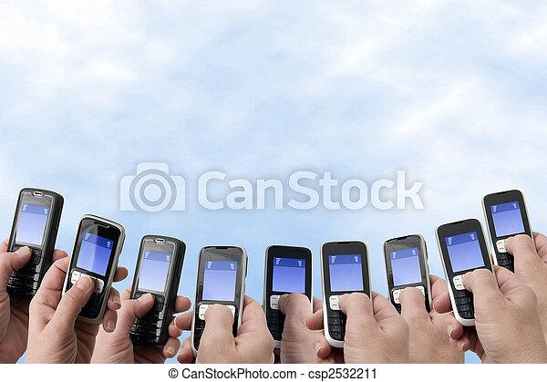 telefonare, -, mobil, mani - csp2532211