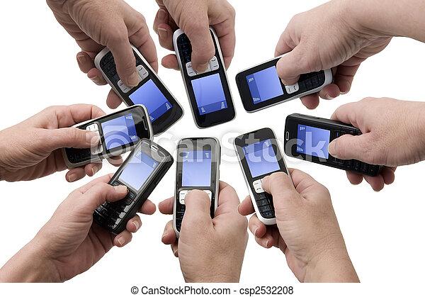 telefonare, -, scatole, testo, mobil, vuoto - csp2532208
