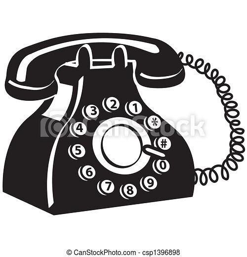 telefono, arte, telefono, clip - csp1396898