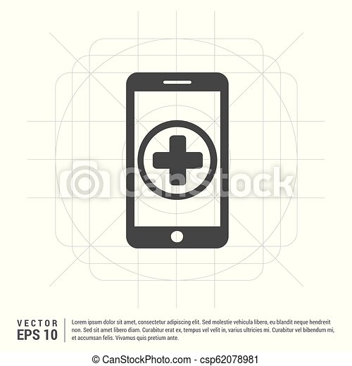 telefono mobile, aggiungere, icona - csp62078981