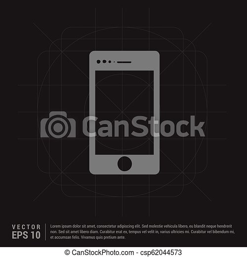telefono mobile, icona - csp62044573