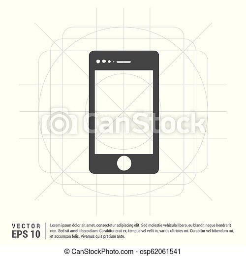 telefono mobile, icona - csp62061541