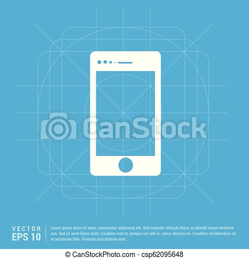 telefono mobile, icona - csp62095648