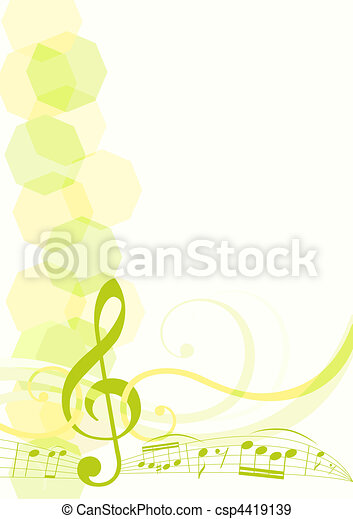 tema, musica, fondo - csp4419139