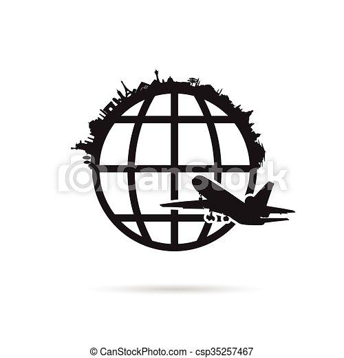 terra pianeta, antico, illustrazione, monumento - csp35257467