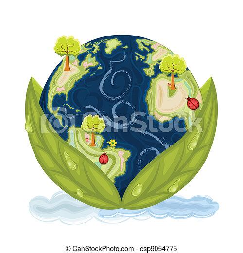 terra pianeta, conservare, nostro, -, verde - csp9054775