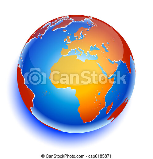 terra pianeta, globale, icona, mondo - csp6185871