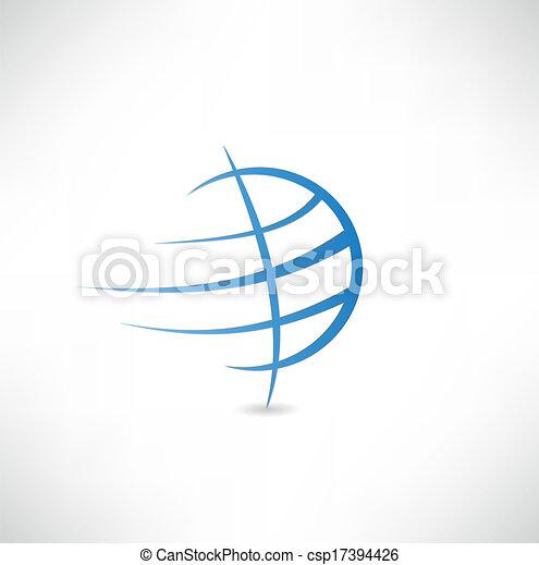 terra pianeta, icona - csp17394426