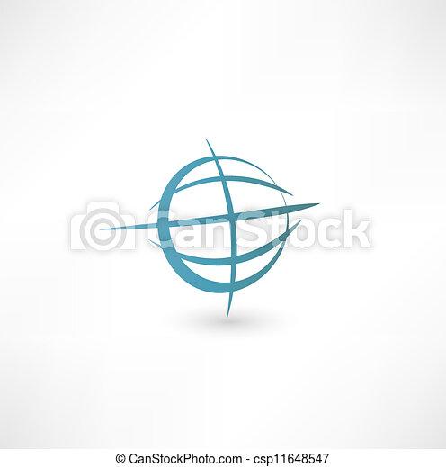 terra pianeta, icona - csp11648547