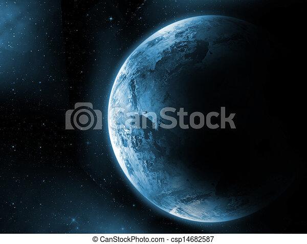 terra pianeta, programmazione strutturata, alba - csp14682587