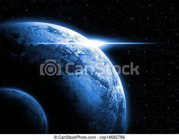 terra pianeta, programmazione strutturata, alba - csp14682786