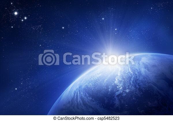 terra pianeta, sole sorgente - csp5482523