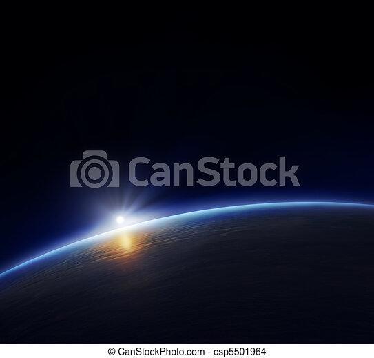 terra pianeta, sole sorgente - csp5501964