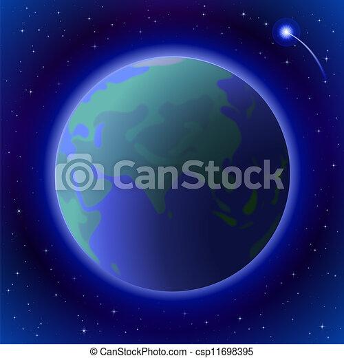 terra, spazio - csp11698395