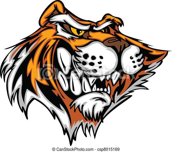 testa, tiger, illinois, vettore, mascotte, cartone animato - csp8015169