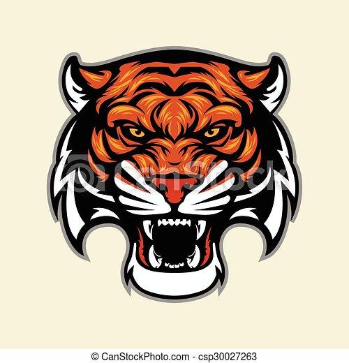 testa tigre, mascotte - csp30027263