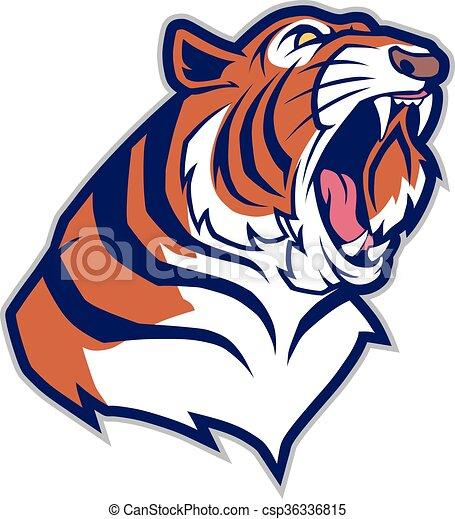 testa tigre, mascotte - csp36336815