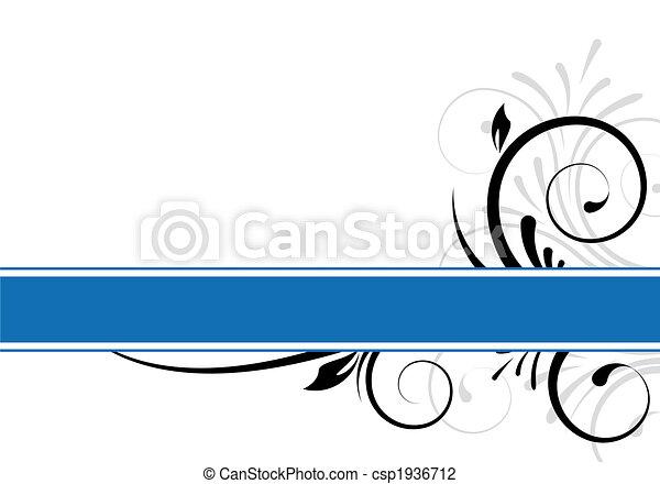 testo, astratto, cornice - csp1936712