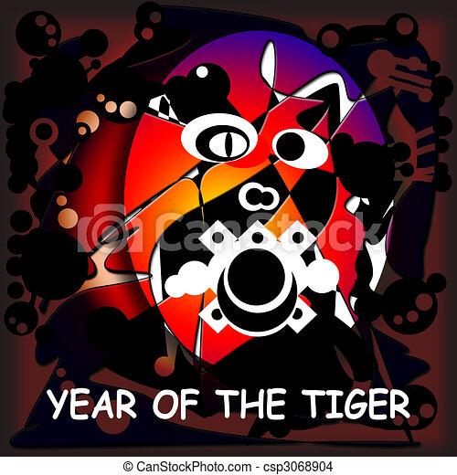 tiger, anno - csp3068904