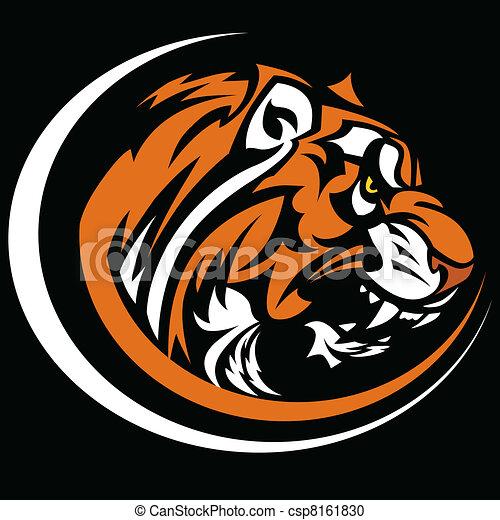 tiger, immagine, grafico, vettore, mascotte - csp8161830