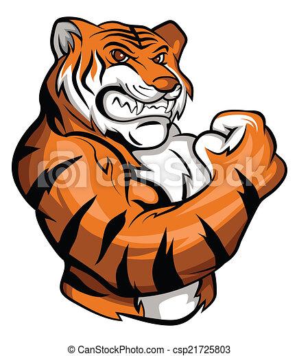 tiger, mascotte - csp21725803