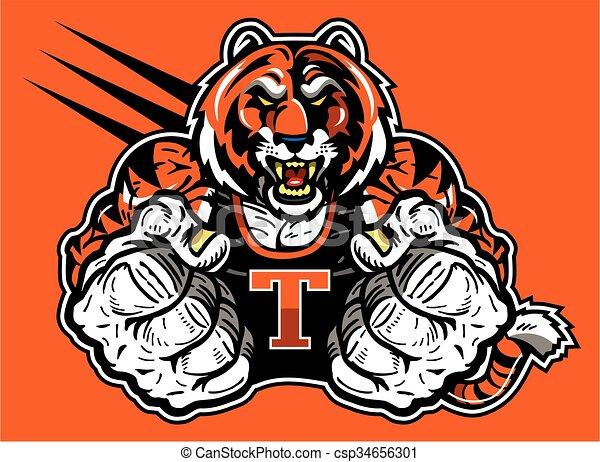 tiger, mascotte - csp34656301