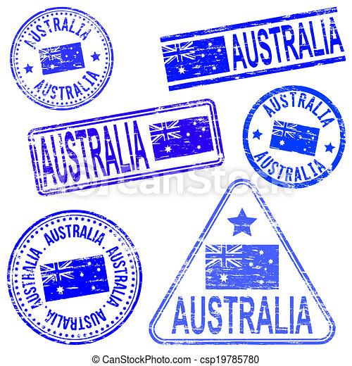 timbri gomma, australia - csp19785780