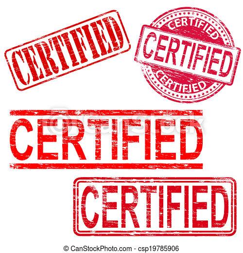 timbri gomma, certificato - csp19785906