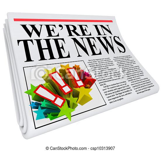 titolo, articolo, giornale, we're, notizie - csp10313907