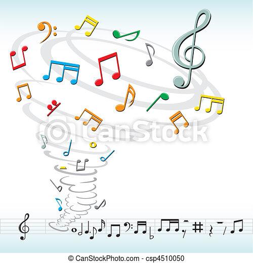tornado, note, musica - csp4510050