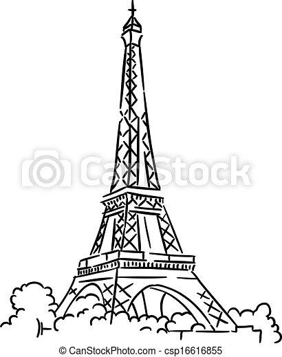 torre, eiffel, parigi, francia - csp16616855