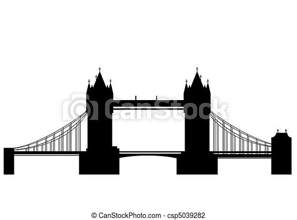 torre ponte, vettore, - - csp5039282