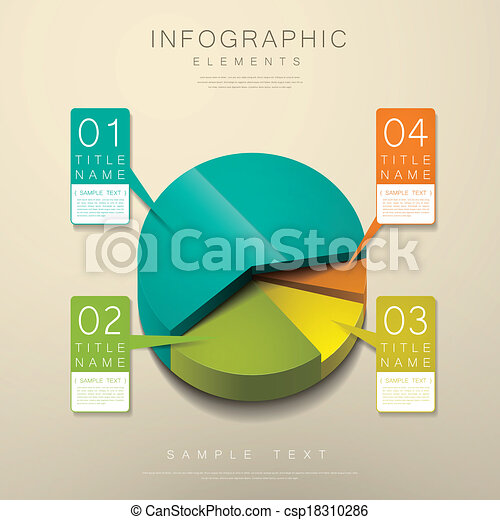 torta, astratto, 3d, grafico, infographics - csp18310286