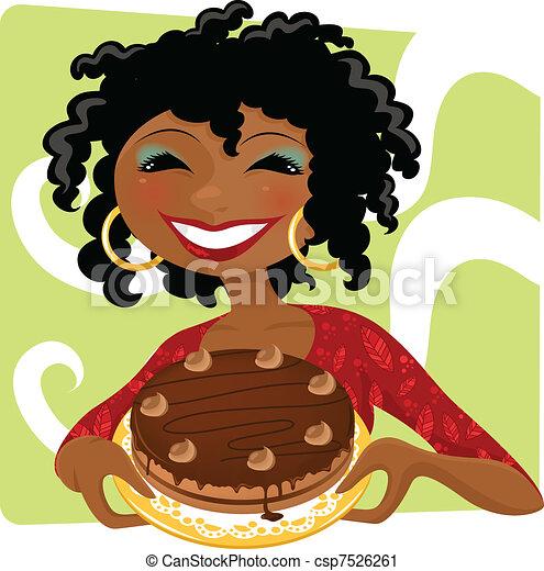 torta, donna - csp7526261