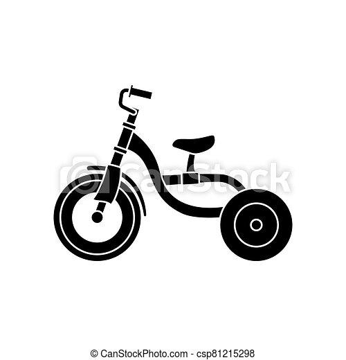 trasporto, fondo., casato, bianco, bambini, illustration., triciclo - csp81215298