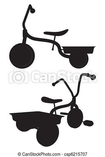 triciclo, bambini - csp6215707