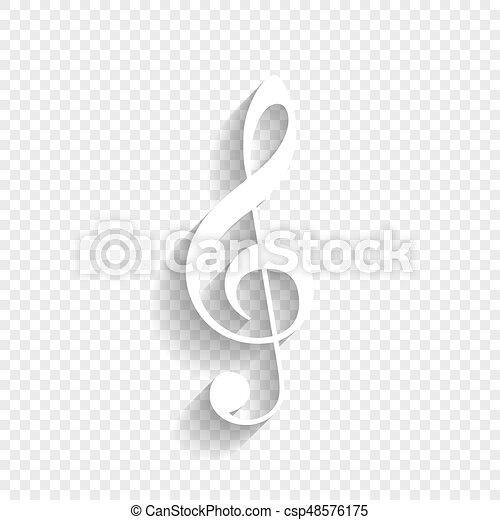 triplo, clef., uggia, g-clef., segno., fondo., chiave, musica, vector., violino, bianco, morbido, trasparente, icona - csp48576175
