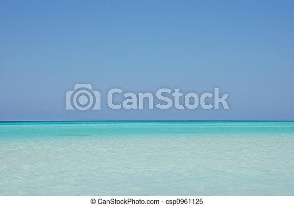 tropicale, oceano, orizzonte - csp0961125