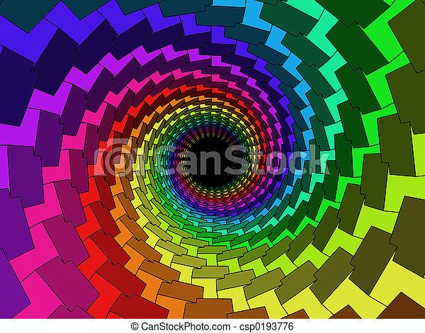 tunnel, multicolor, 3d - csp0193776