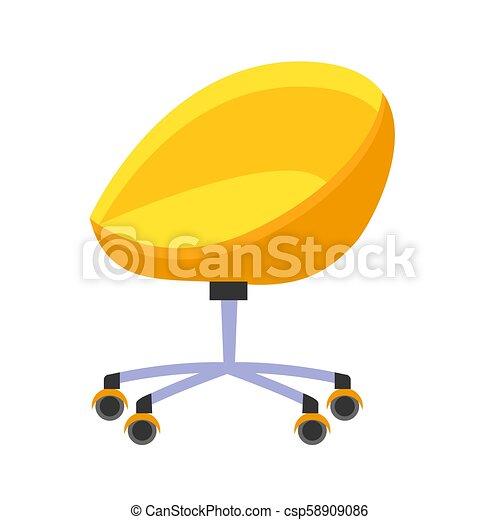 Ufficio Isolato Illustrazione Luminoso Sedia Gialla Wheels Lavoro Confortevole Ufficio Conditions Poltrona Canstock