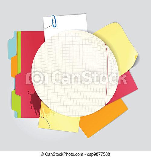 ufficio, roba, colorare - csp9877588