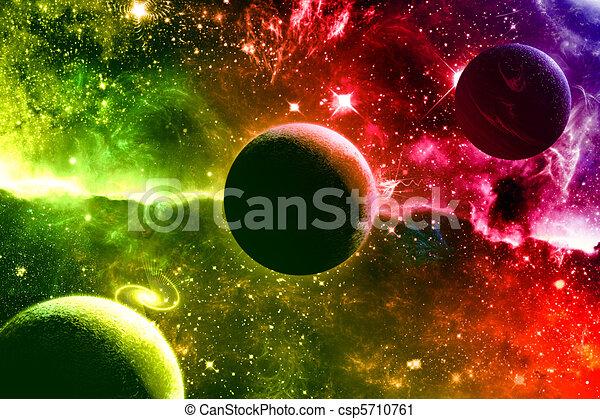universo, galassia, nebulosa, pianeti, stelle - csp5710761